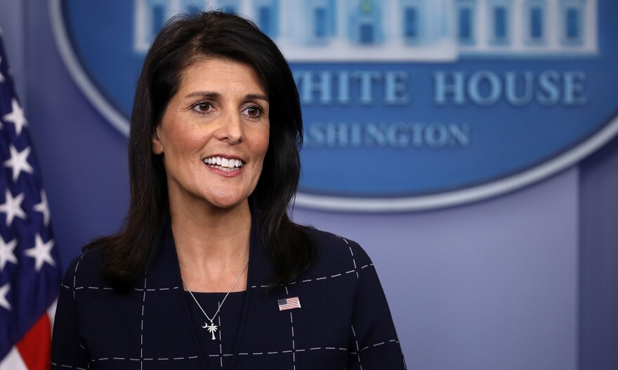 A watchdog group contends that U.S. Ambassador to the United Nations Nikki Haley violated the Hatch Act for retweeting a political message from the president.