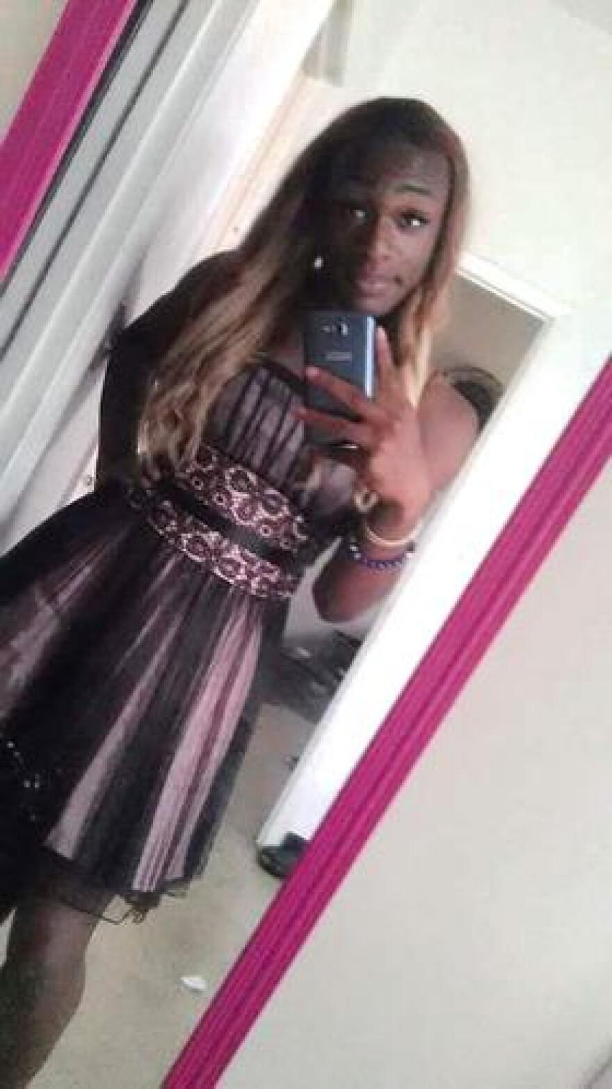 Kourtnee Armanii Davinnie took several selfies of herself before the prom at Jacksonville's JASMYN program. She was named queen of the prom.