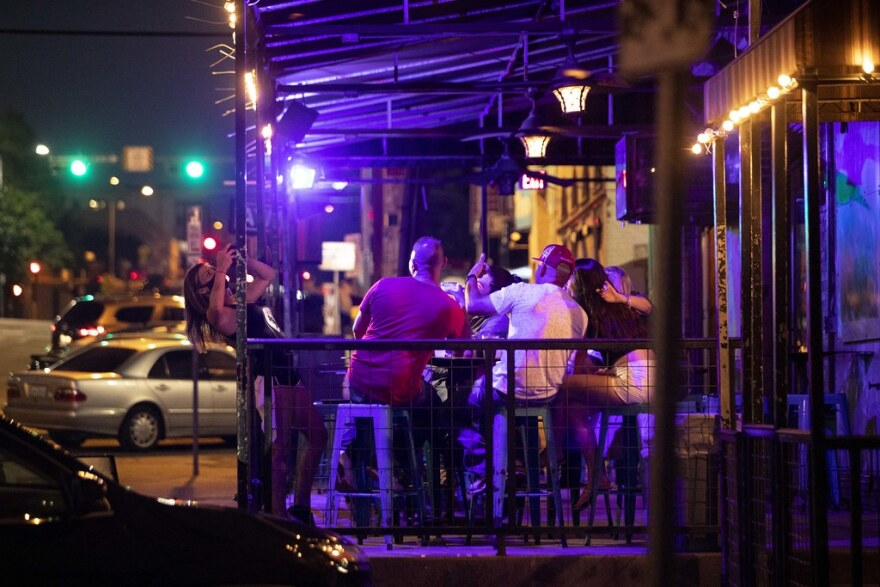 Under Gov. Greg Abbott's phased-in plan to reopen the economy, bars in Texas can operate at 50% capacity indoors. Capacity limits do not apply outside.
