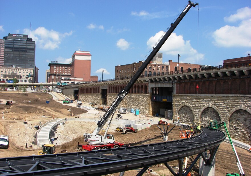 View of North Gateway construction site.