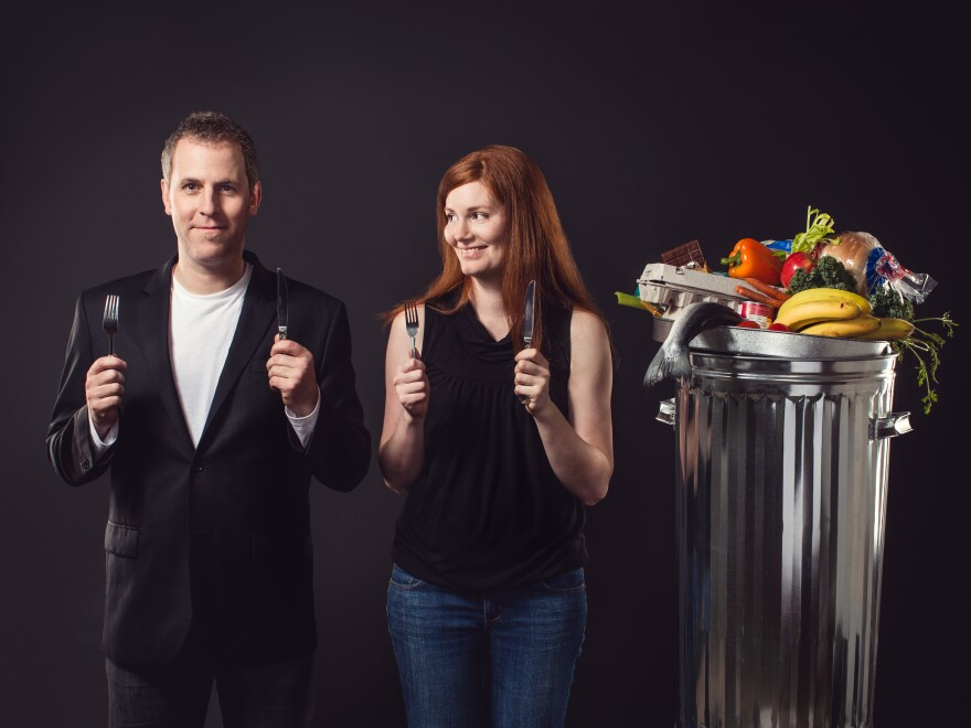 For six months, filmmakers Grant Baldwin and Jen Rustemeyer vowed to eat only food entering the waste stream. They document their experiment, and the problem of food waste, in <em>Just Eat It.</em>