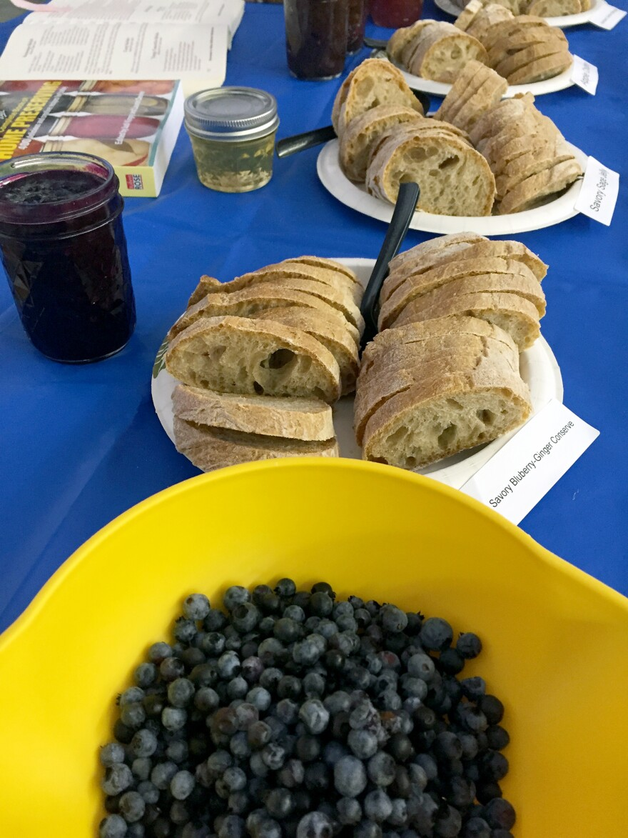 Kathy Savoie's savory blueberry ginger conserve and other savory jams.