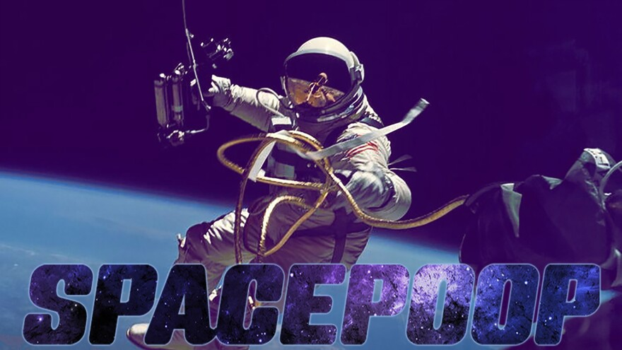 """This is the actual NASA graphic illustrating the """"Space Poop Challenge."""""""