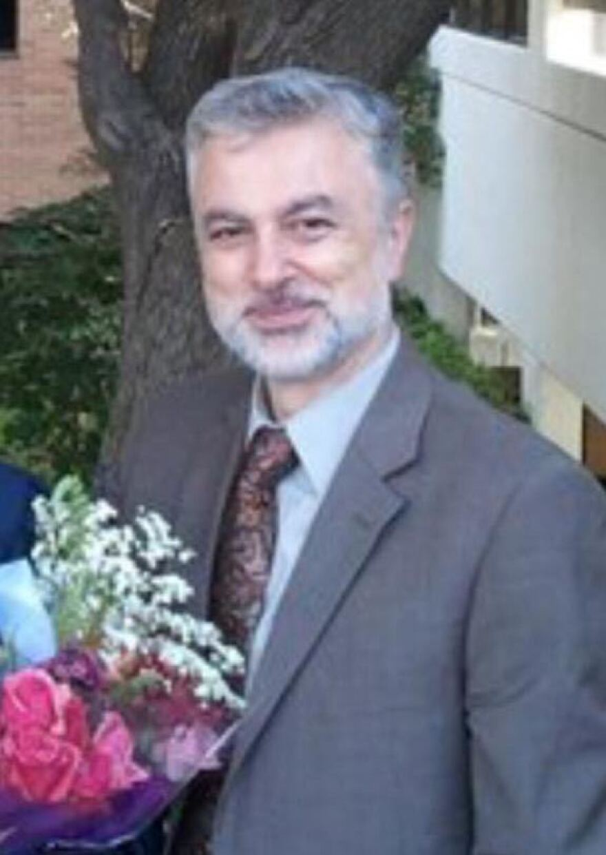 Majd Kamalmaz is photographed at his daughter's graduation from the University of Texas at Arlington in 2011.