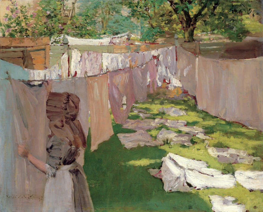 <em>Washing Day</em> is one of more than 70 artworks by Chase on display at The Phillips.