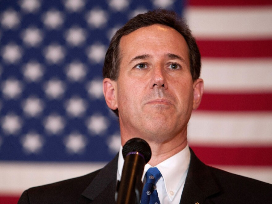 Republican presidential contender Rick Santorum during a campaign event Sunday in Fond du Lac, Wis.