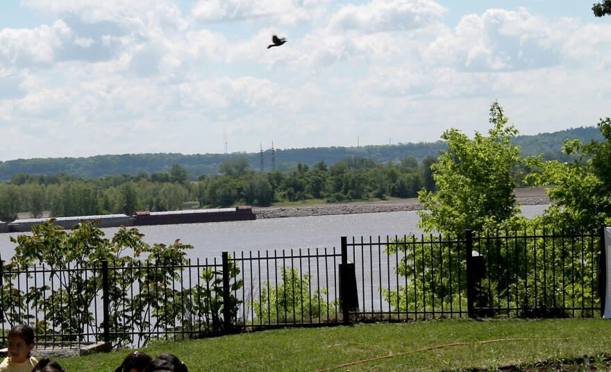The new Monarch butterfly garden is in Bellerive Park, which overlooks the Mississippi River in south St. Louis.