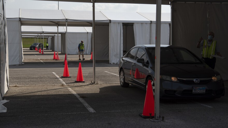 Some 127 thousand voters cast their ballots at drive through locations in the Houston area.