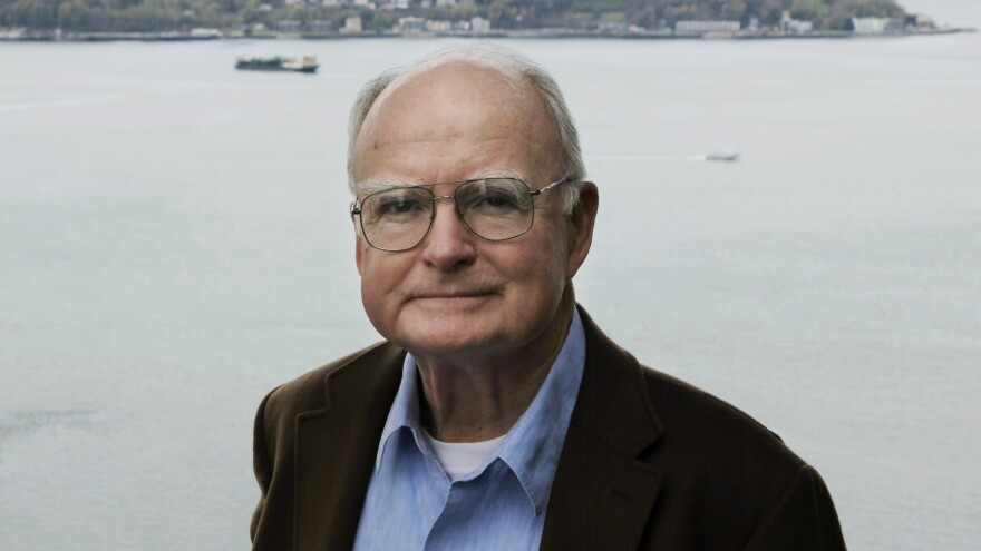 William Ruckelshaus, the first administrator of the Environmental Protection Agency, poses for photos in 2009 at his office in Seattle.