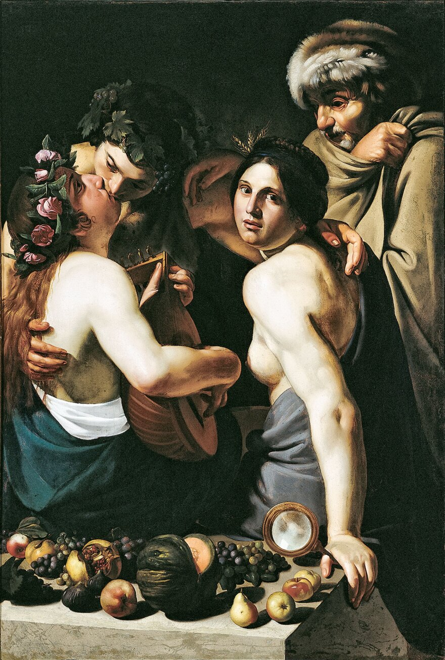 """""""Allegory of the Four Seasons"""" by Bartolomeo Manfredi is featured on """"What is a Masterpiece,"""" an electronic guide to the Dayton Art Institute that offers detailed background information on works and their creators."""