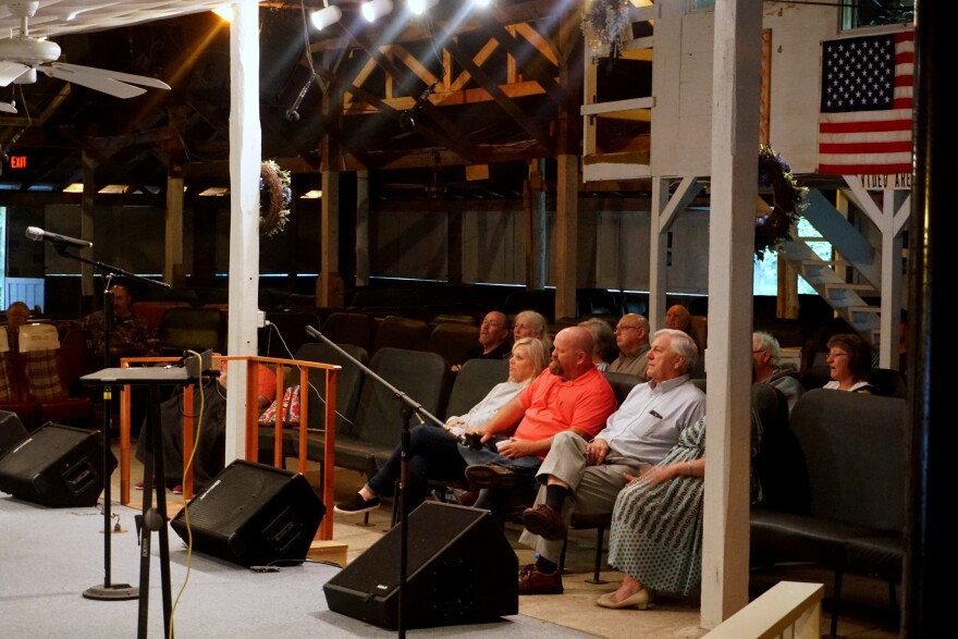 Although the event used to draw thousands of people, the WV Mountain State Gospel Convention now only draws a few hundred people. Photo by Zack Harold