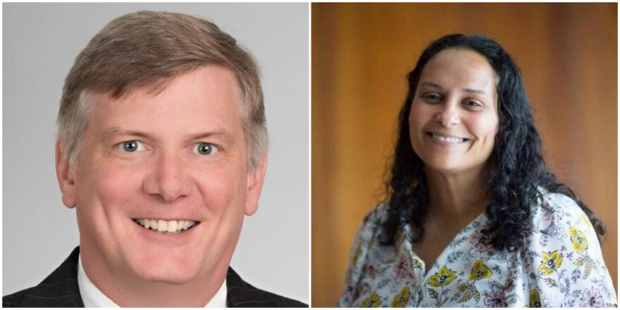 Julian Wright (left) and Kristie Puckett-Williams
