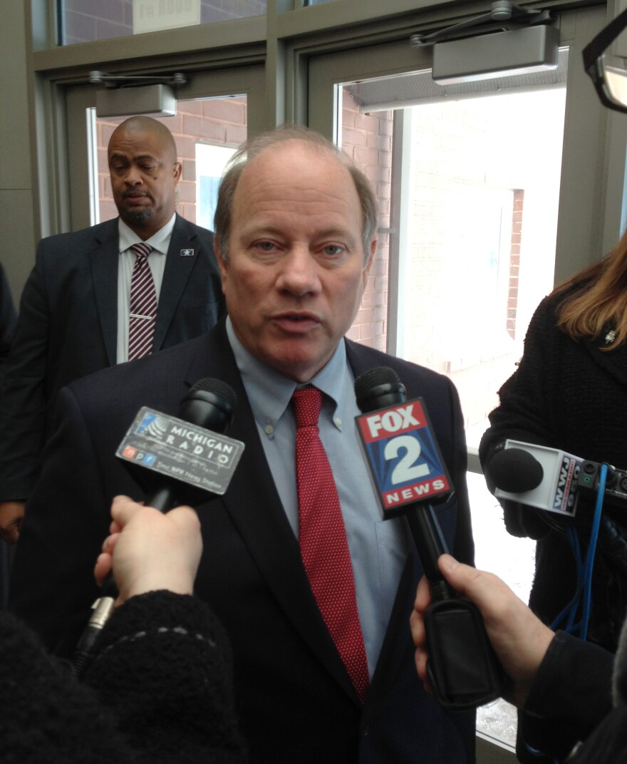 Detroit Mayor Mike Duggan visited a handful of Detroit public schools on Tuesday. He said teachers have legitimate concerns about maintenance and building conditions.