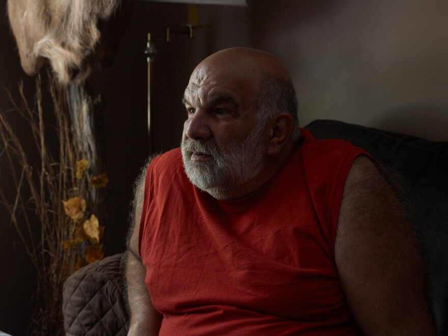 Nicolaou went on to work at a van plant — until that closed down — and then on to an auto plant. But the hard, physical work wrecked his knees and triggered other health problems. He had to retire at 56.