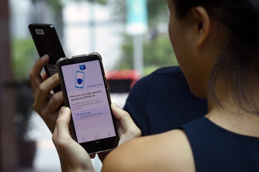 Smartphone apps can be used to help streamline the work of contact tracing. In Singapore, the government uses an app called TraceTogether. But in the U.S., privacy concerns could hamper such an approach.