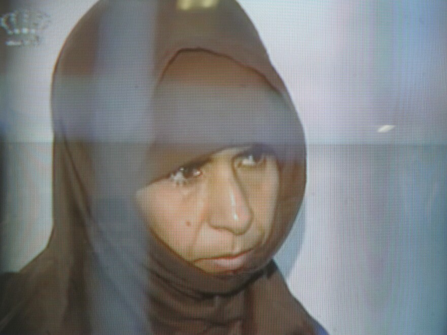 This image made from Jordan television in 2006 shows Sajida Mubarak al-Rishawi, the female suicide-bomber who failed to blow herself up in a Jordanian hotel in 2005. The Iraqi, whose freedom had been sought by the Islamic State, was executed early Wednesday by the Jordanian government.