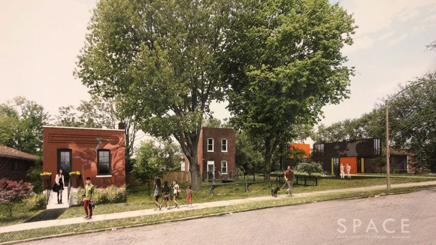 This rendering provides an idea of what the Gravois Park artists housing development will look like.