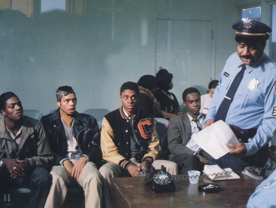 Rick Stone (left) was a gang member from Cabrini-Green who was asked to play himself in <em>Cooley High.</em>