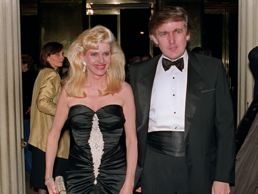 Trump and his then-wife, Ivana, at a social engagement in New York in 1989.