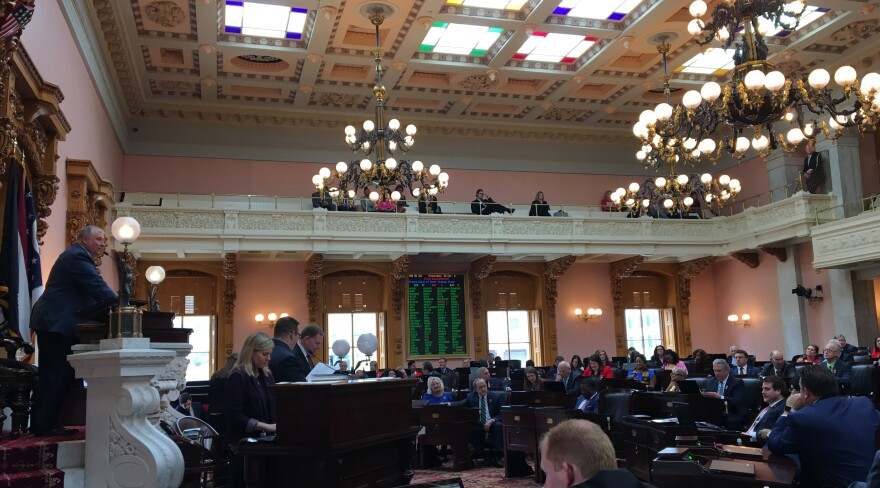 A photo of the Ohio House in session