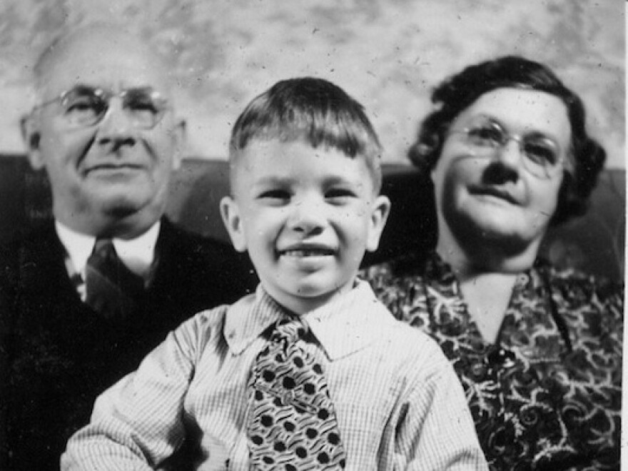 Listener Laurie Pavlos' father, Richard Voigt, with her great-grandparents Frederick and Ethel Rickmeyer. Frederick documented many of his wife's recipes by hand in the early 1900s.