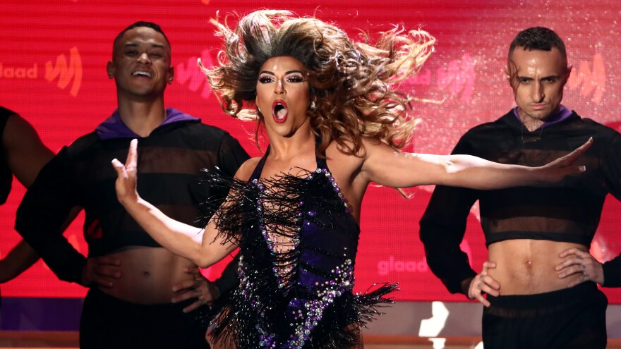 Shangela performs during the 30th Annual GLAAD Media Awards Los Angeles on March 28 in Beverly Hills, Calif.