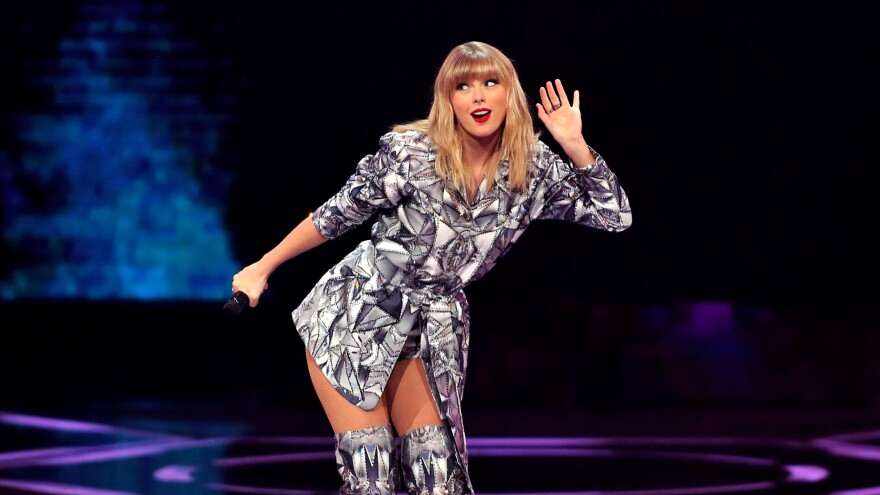 Taylor Swift, performing in Shanghai, China on November 10, 2019. The pop star has been embroiled in a public dispute with the head of her former label and the company he sold it to over the right to perform her songs publicly.