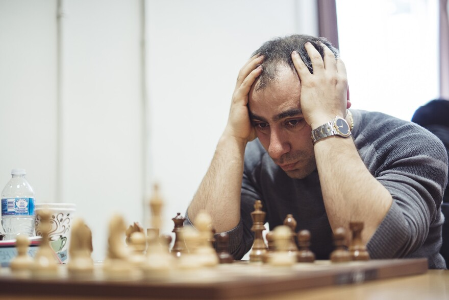 Var Akobian, one of the highest-rated players competing in the Summer Chess Classic Group A.