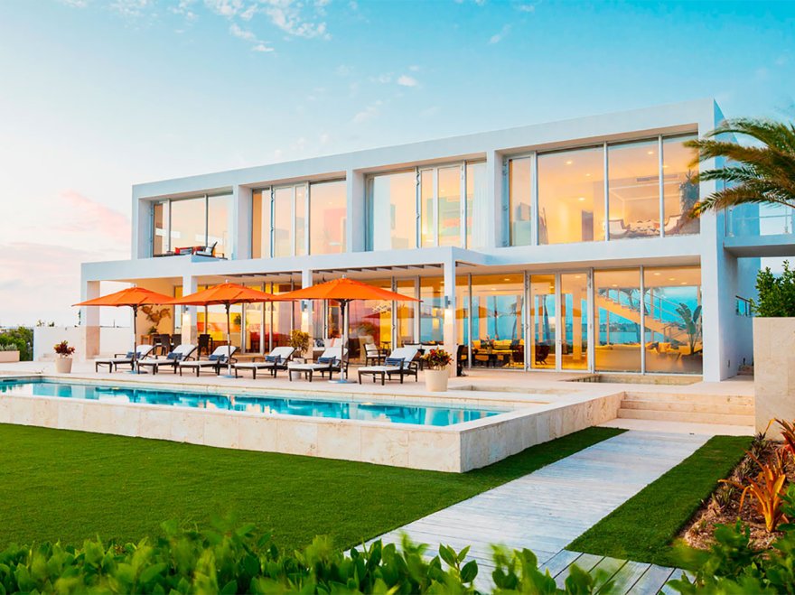 Marriott International's Homes & Villas home-rental initiative offers luxury properties in 100 markets. It's an example of how the hotel and short-term home-rental businesses are converging.