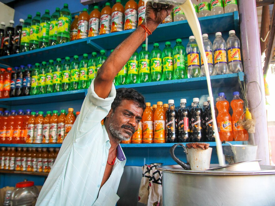 Ravi, a chai wallah in the south Indian city of Pollachi