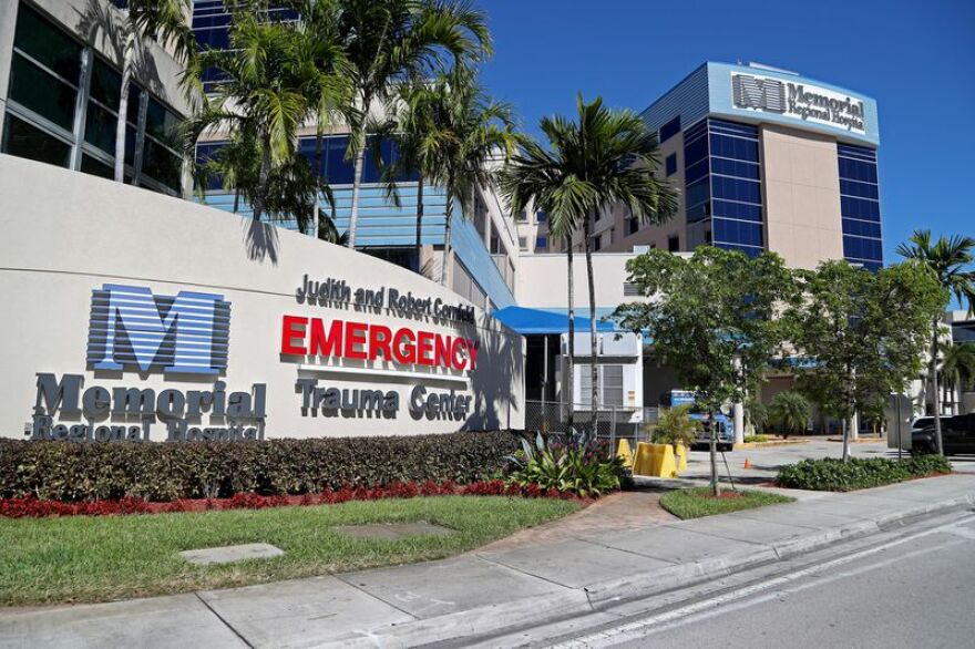 Memorial Regional Hospital in Hollywood has tested a patient for coronavirus, according to reports, although there are no confirmed cases of the virus at the hospital.