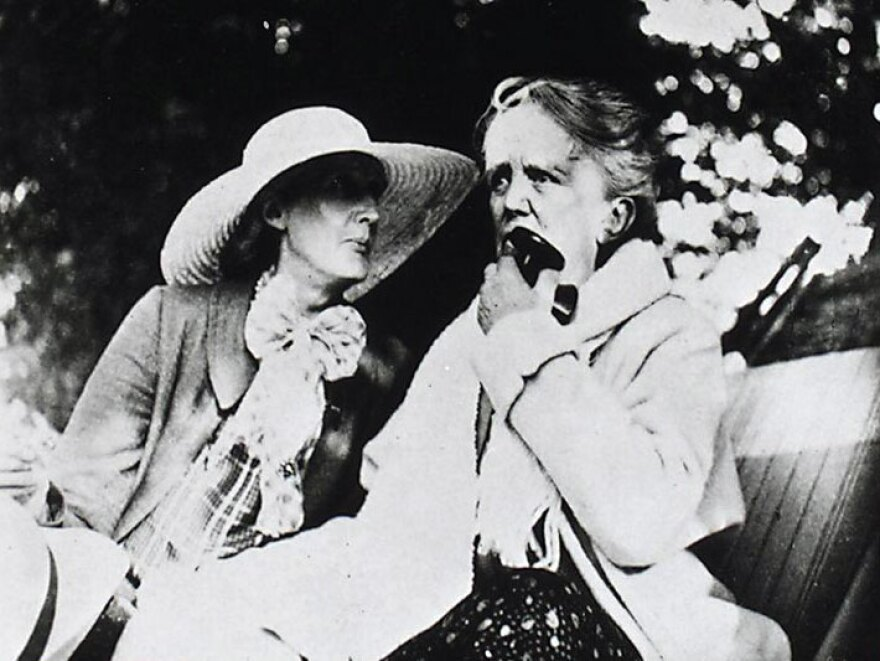 Virginia Woolf (left) and Ethel Smyth spent time together. Woolf did not know quite what to make of her ardent, and much older, admirer.