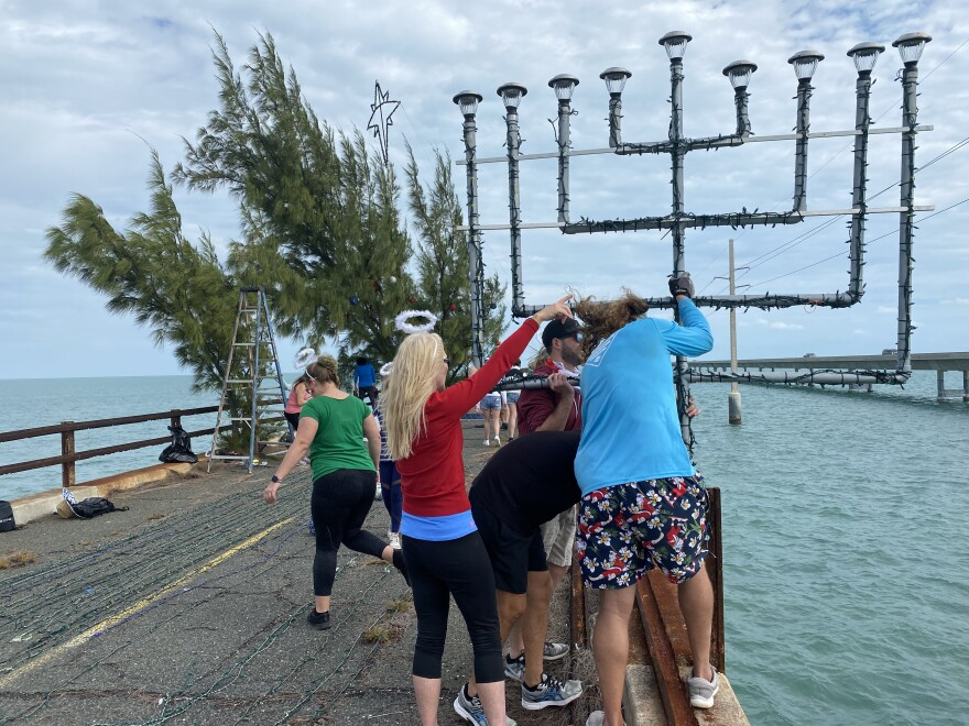 Last year, a menorah was added to the holiday display on the old Seven Mile Bridge in the Keys.
