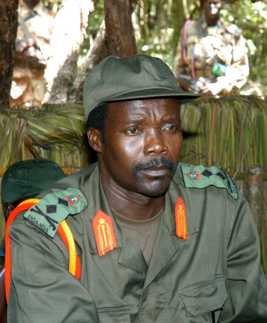 Joseph Kony, leader of the Lord's Resistance Army and shown here in 2006, remains at large despite an international campaign to capture him that started in 2012.