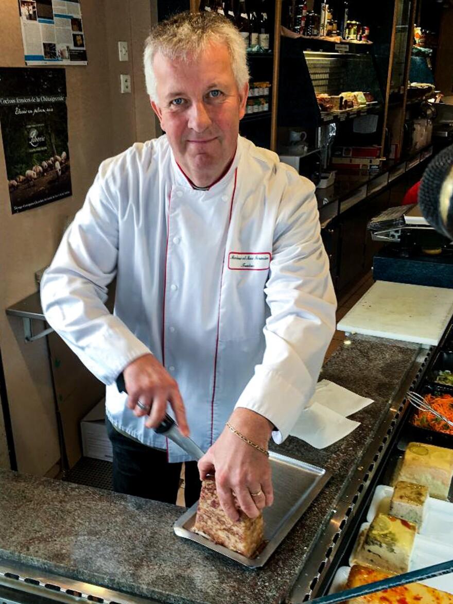 Marc Fermin explains how <em>fromage de tête — </em>head cheese — is made.