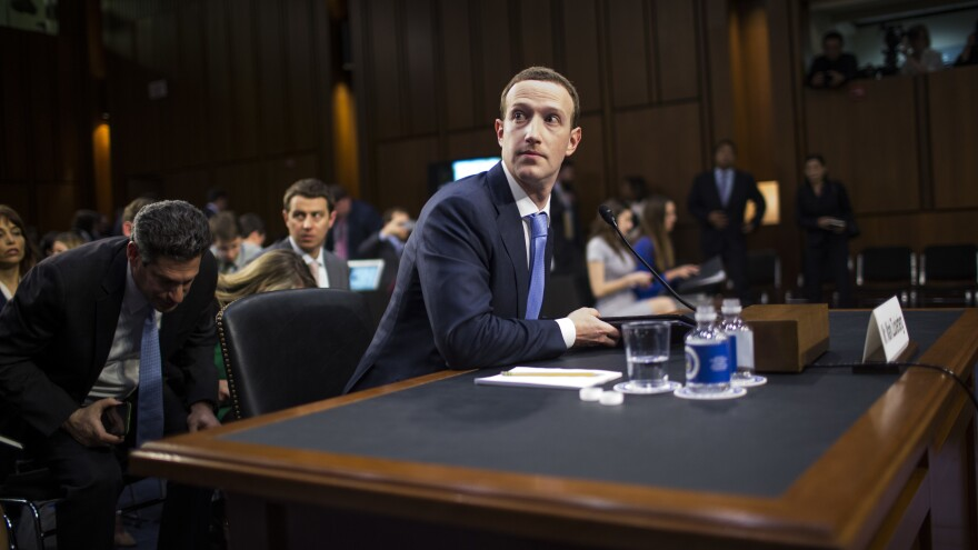 Facebook CEO Mark Zuckerberg testifies before Congress on Tuesday in Washington, D.C.