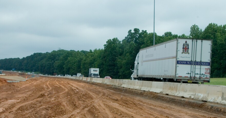 Construction on the toll lanes is underway and could be done by the end of 2018, NCDOT says.