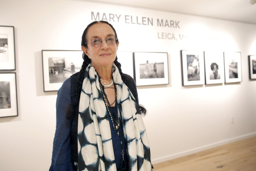 Photographer Mary Ellen Mark attends the Leica Los Angeles grand opening on June 20, 2013. Mark died Monday. She was 75.