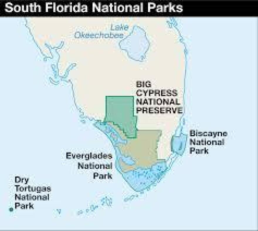 South Florida's national parks and preserves.