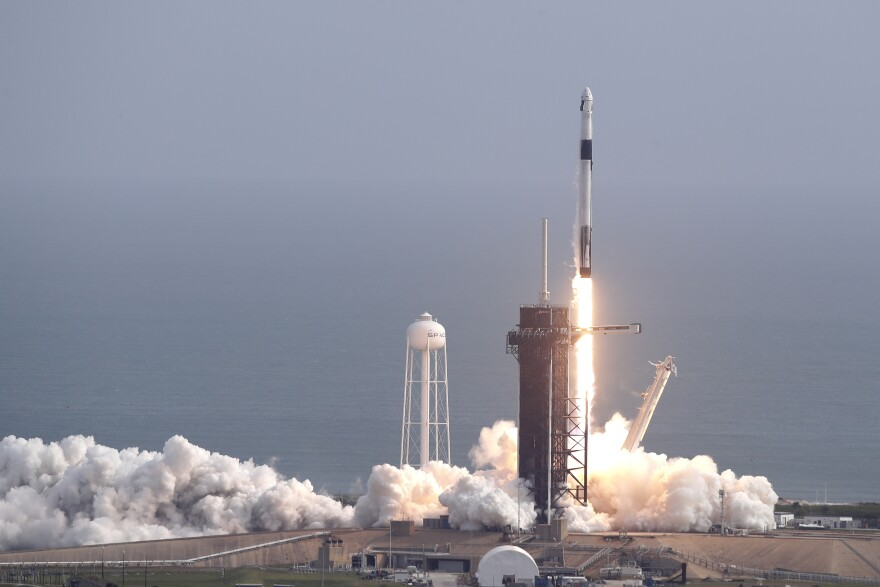 SpaceX successfully tested the emergency escape system of its Crew Dragon capsule on Sunday. The capsule is designed to carry astronauts to the International Space Station for NASA.