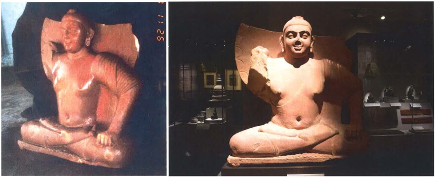 """In 1999, Wiener allegedly sold this sculpture, listed as """"Seated Buddha #1,"""" to Singapore's Asian Civilisations Museum."""