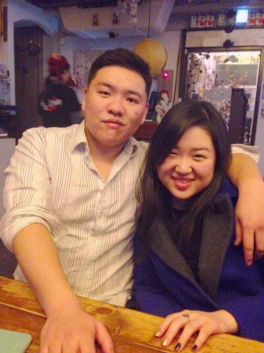 Siblings Sam and Esther Chong, founders of Our Community Dinner Table in Palisades Park, N.J.