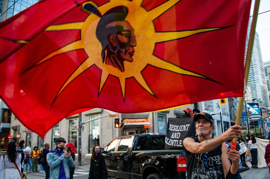 First Nations activists and allies protested the Canadian government last month to uphold treaty rights granted to indigenous groups.
