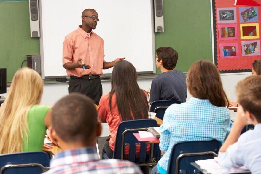 teacher in front of class