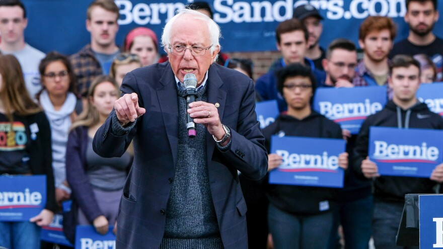 "Vermont senator and presidential candidate Bernie Sanders' campaign says he ""is conversing and in good spirits. He will be resting up over the next few days."""