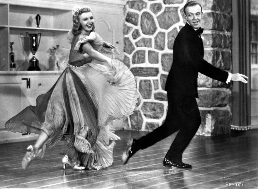 Fred Astaire and Ginger Rogers gave Americans a much-needed on-screen escape in the 1930s. Above, they dance in the 1938 comedy musical <em>Carefree.</em>