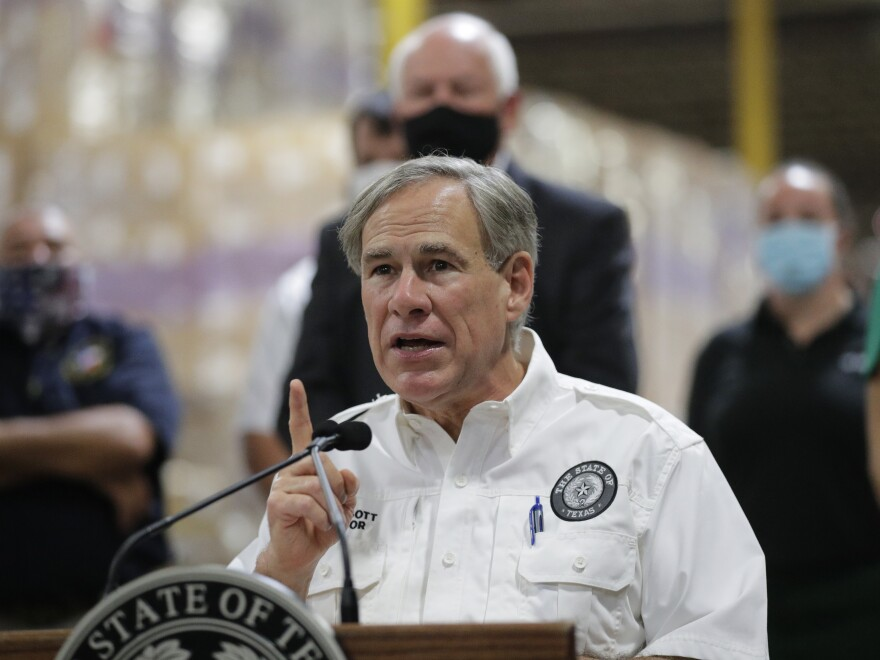 Texas Gov. Greg Abbott unveiled a plan that would freeze any city from raising property taxes on residents if police departments are defunded.