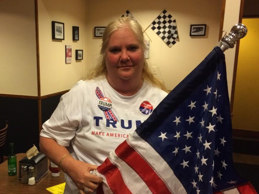 Linda Schainberg, 53, organizes weekly volunteer meetings for Trump supporters in Hollywood, Fla.