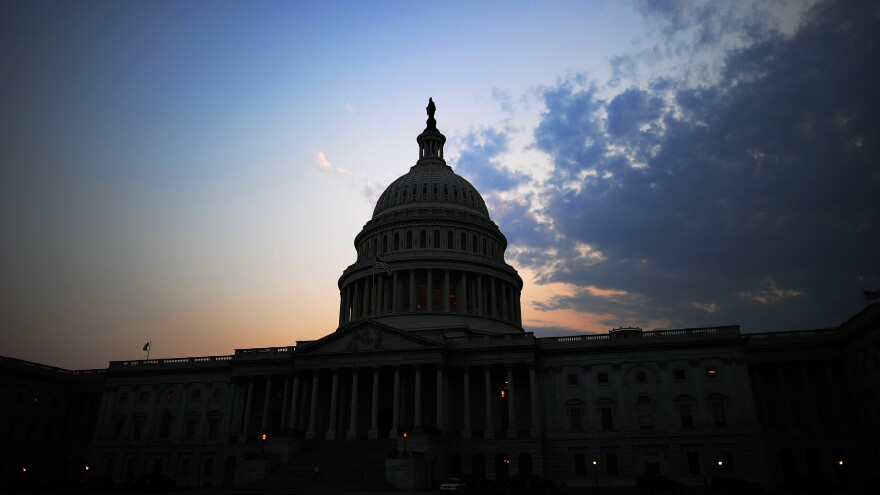 The U.S. Capitol Building at dusk in Washington, D.C, in July 2011.