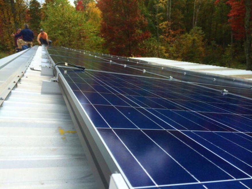 Solar panels arriving in Fayette County.